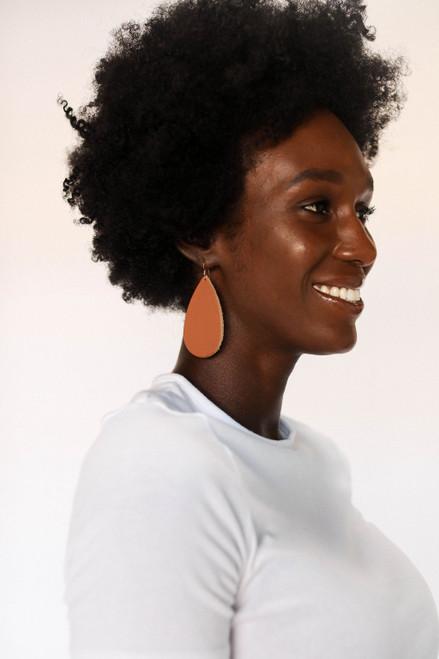Terracotta Leather Earrings