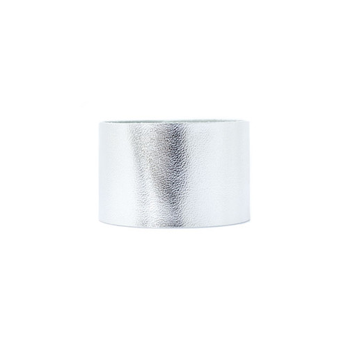 Silver Wide Leather Cuff
