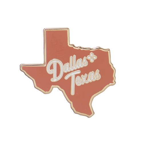 Dallas Statement Pin | Nickel and Suede