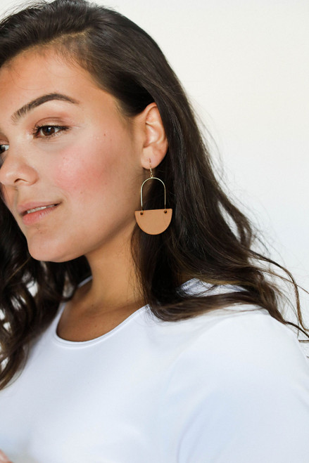 N&S Fall Leather Earrings Set | Nickel and Suede