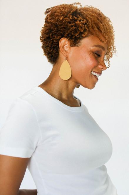 N&S Fall Leather Earrings Set | Nickel and Suede
