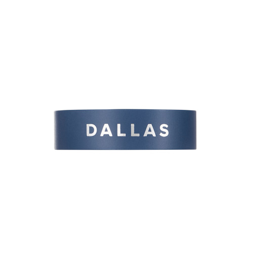 Dallas Navy Thin Leather Cuff | Nickel & Suede