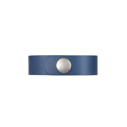 Dallas Navy Thin Leather Cuff