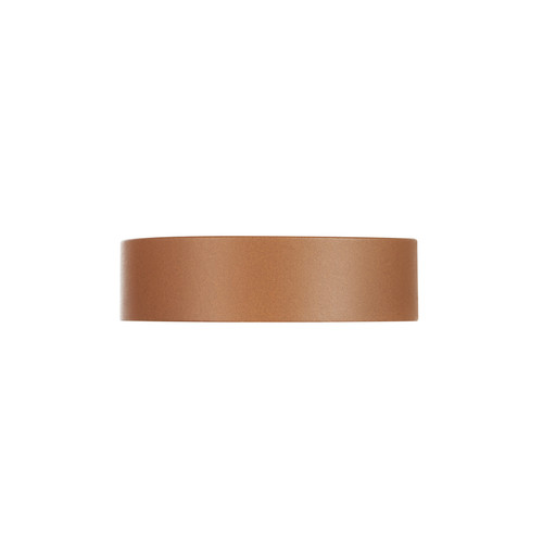 Dallas London Tan Thin Leather Cuff | Nickel & Suede