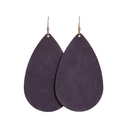 Blackberry Suede Leather Earrings | Nickel and Suede