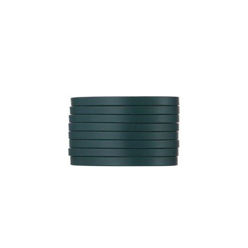 Royal Teal Slit Leather Cuff | Nickel and Suede