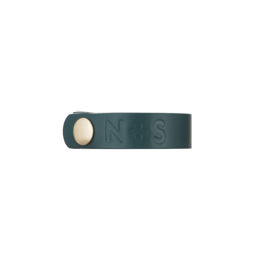 Royal Teal Thin Leather Cuff | Nickel and Suede