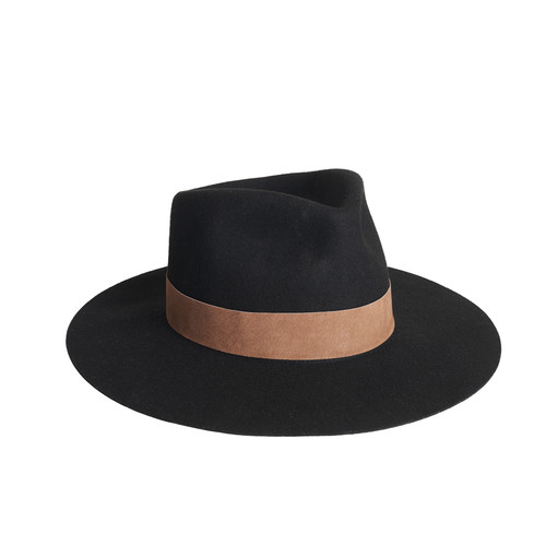 Black Miller Fedora | Nickel & Suede