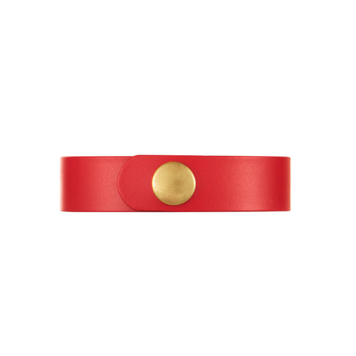 Kansas City Select Crimson Thin Leather Cuff | Nickel & Suede