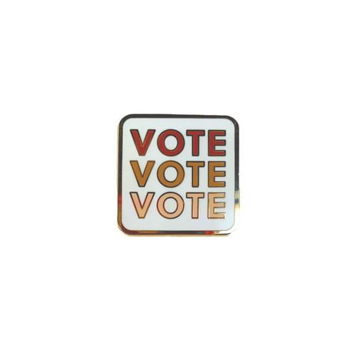 VOTE Enamel Pin | Nickel & Suede