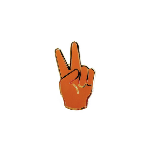 Peace Enamel Pin | Nickel & Suede