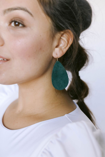 Ivy Suede Leather Earrings | Nickel & Suede
