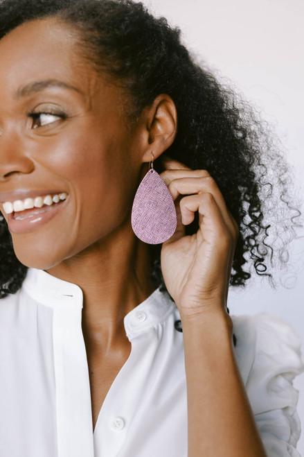 Jingle Bells Leather Earrings | Nickel and Suede