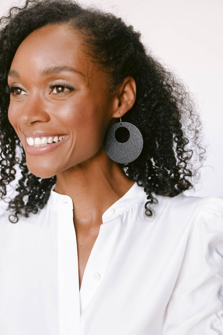 Afterglow Nova Leather Earrings | Nickel and Suede
