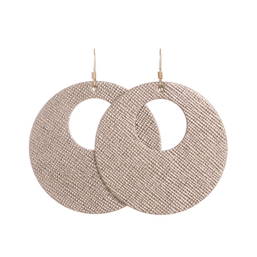 Winter Woodland Leather Earring Set | Nickel and Suede