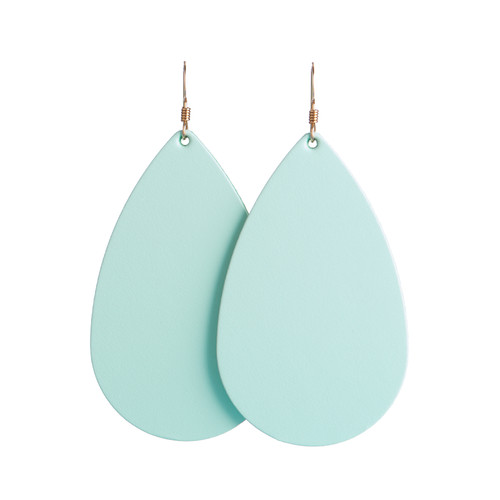 Select Mint Leather Earrings | Nickel & Suede