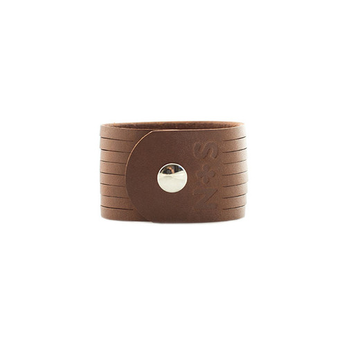 Brown Slit Leather Cuff