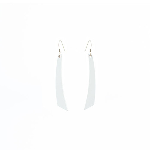 N S Select White Accent Leather Earrings