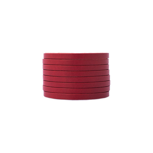 Red Slit Leather Cuff