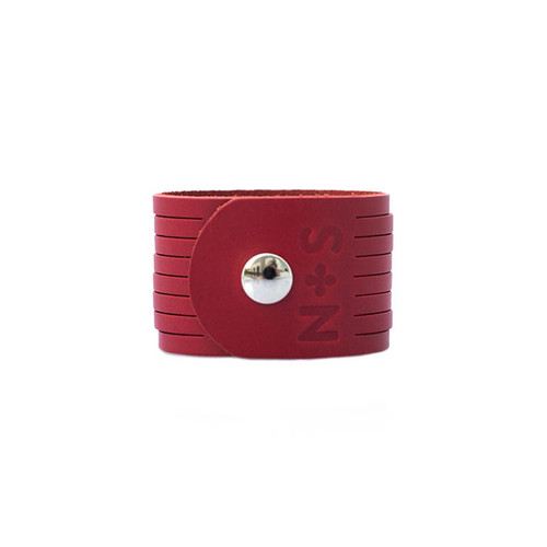 Nickel & Suede Leather Cuff | N&S Select Red Slit