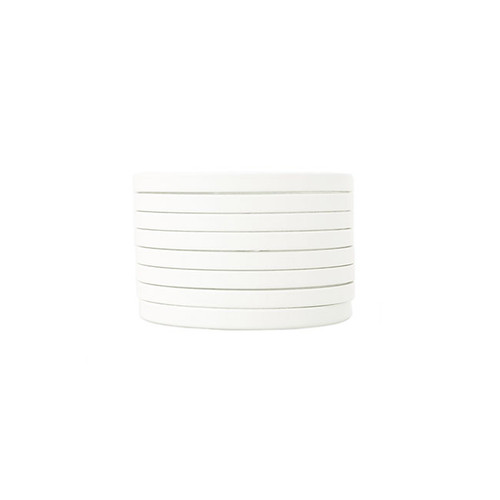 N&S Select White Slit Leather Cuff