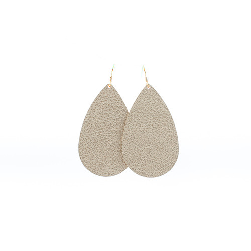 Shimmer Leather Earrings