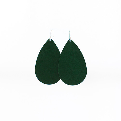N&S Select Green Leather Earrings