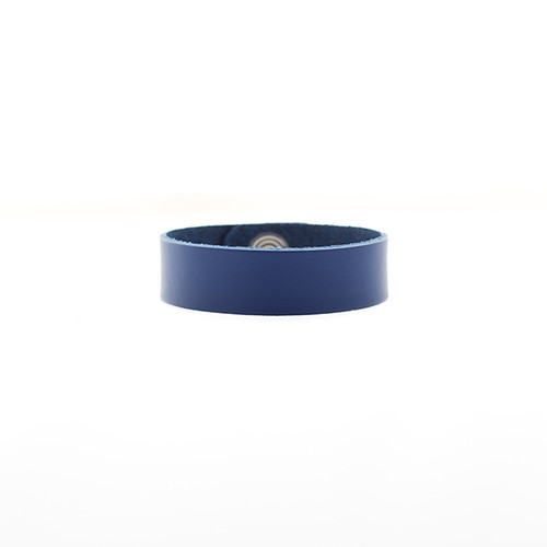 Blue Thin Leather Cuff