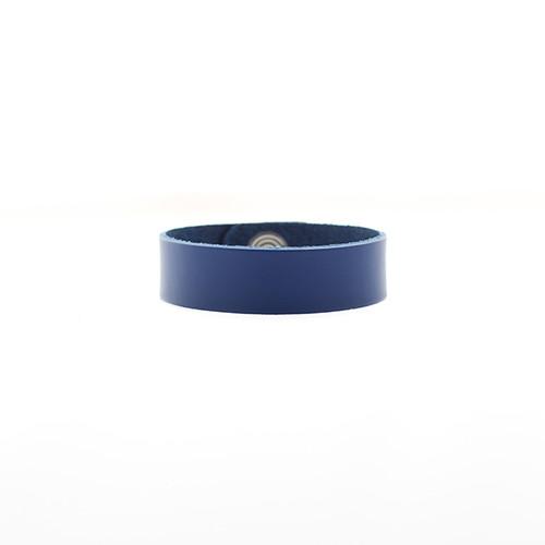 Blue Thin Leather Cuff