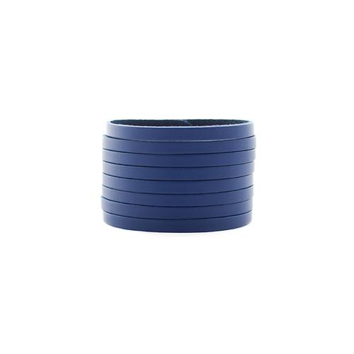 Blue Slit Leather Cuff