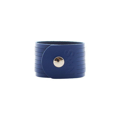 Nickel & Suede Leather Cuff | N&S Select Blue Slit