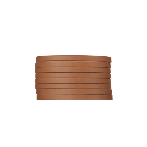 London Tan Slit Leather Cuff | Nickel and Suede