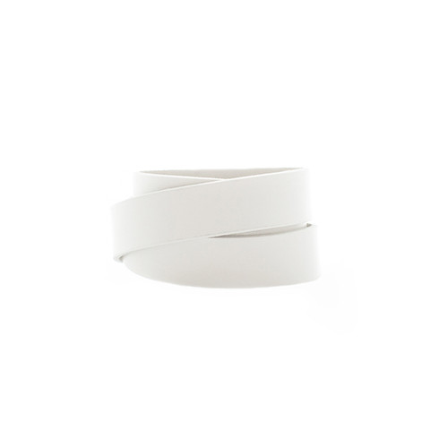 N S Select White Wrap Leather Cuff