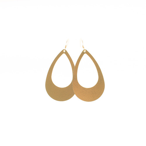 Gold Cut-Out Leather Earrings