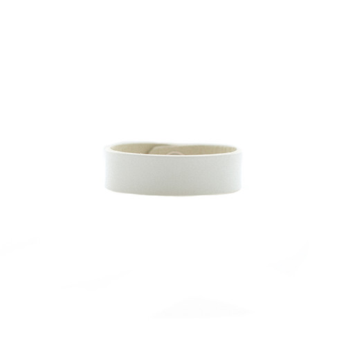 N S Select White Thin Leather Cuff