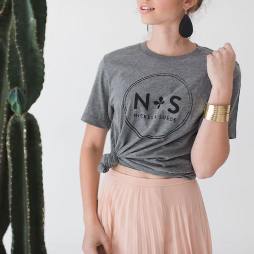 N&S Signature Gold Slit Leather Cuff