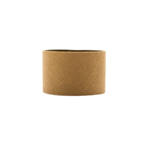 Brass Wide Leather Cuff