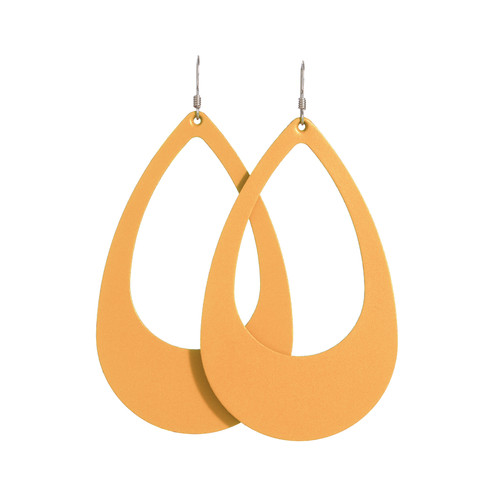 N&S Select Gold Cut-Out Leather Earrings   Nickel & Suede