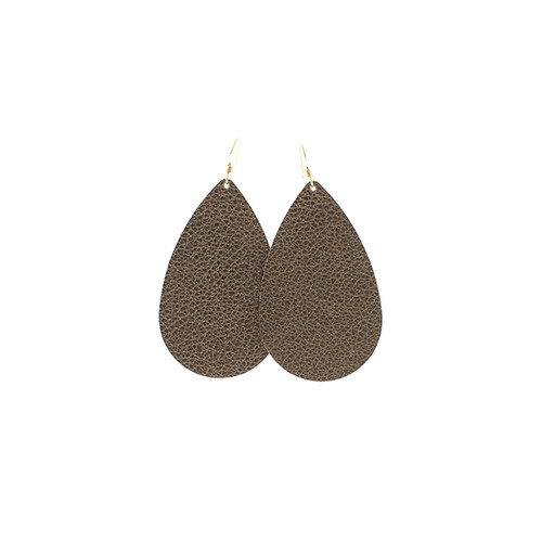 Bronze Beauty Leather Earrings