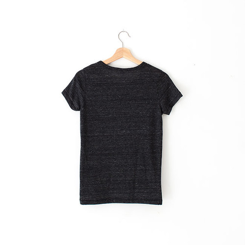 N&S Women's Heather Black Vintage Tee