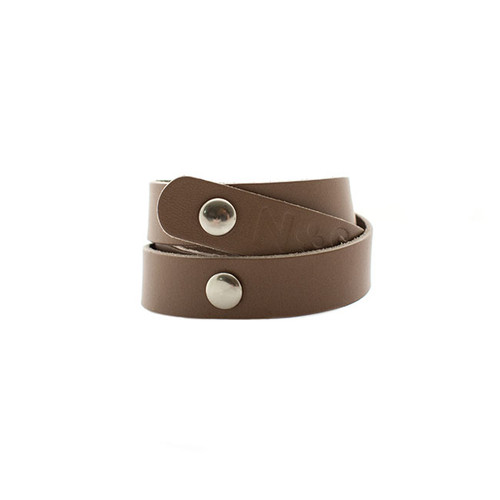 Nickel & Suede Leather Cuff | Stone Wrap