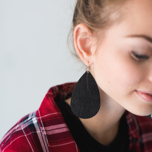 Flexible Cork Leather Earrings