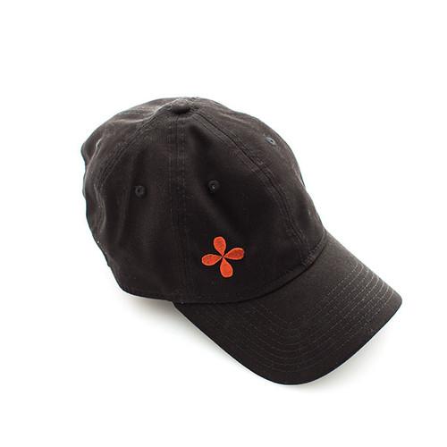N S Black Logo Baseball Cap
