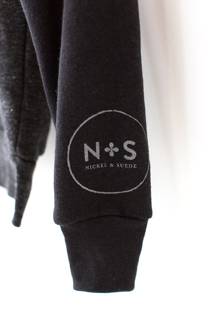 N&S Unisex Eco-Fleece Zip Hoodie Logo on left sleeve