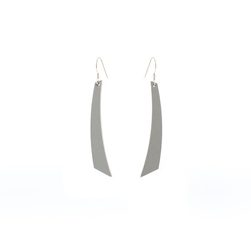 N S Select Gray Accent Leather Earrings