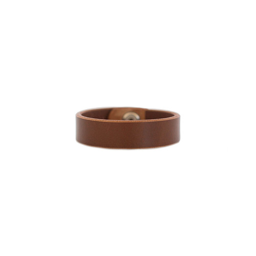 Brown Thin Leather Cuff