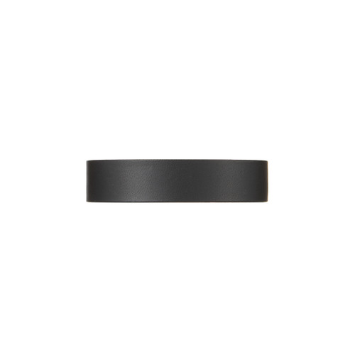 Black Thin Leather Cuff | Nickel and Suede