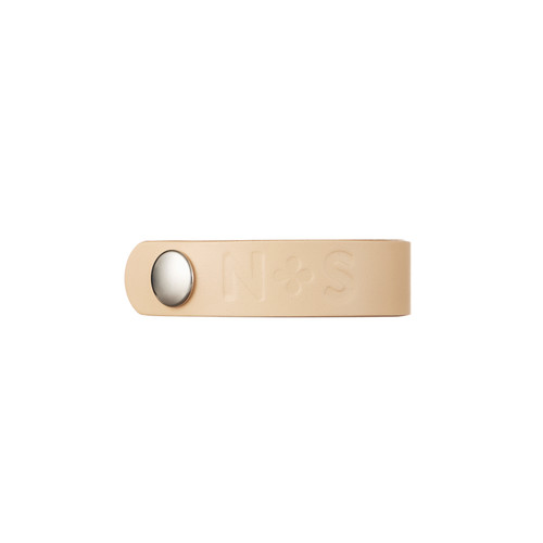 N&S Select Natural Thin Leather Cuff  | Nickel and Suede
