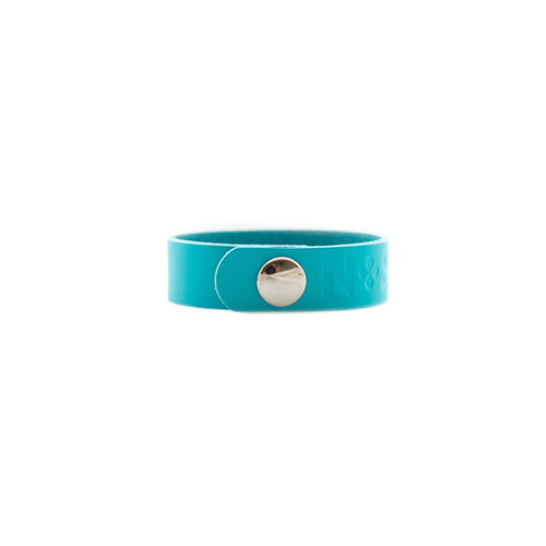 N&S Select Turquoise Thin Leather Cuff  Silver snap
