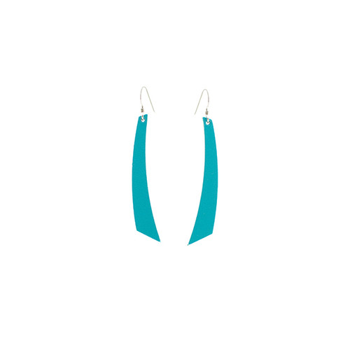 N S Select Turquoise Accent Leather Earrings